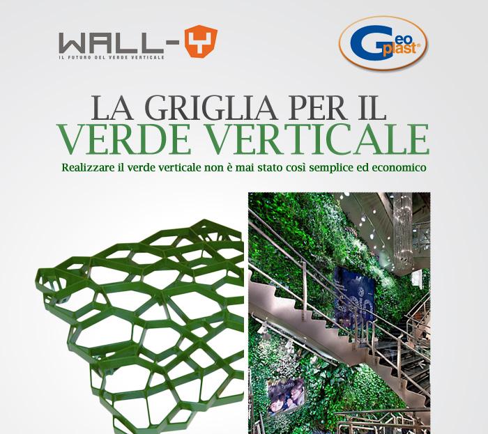 Pareti verdi verticali con griglie ad alta resistenza wall y for Pareti verdi verticali