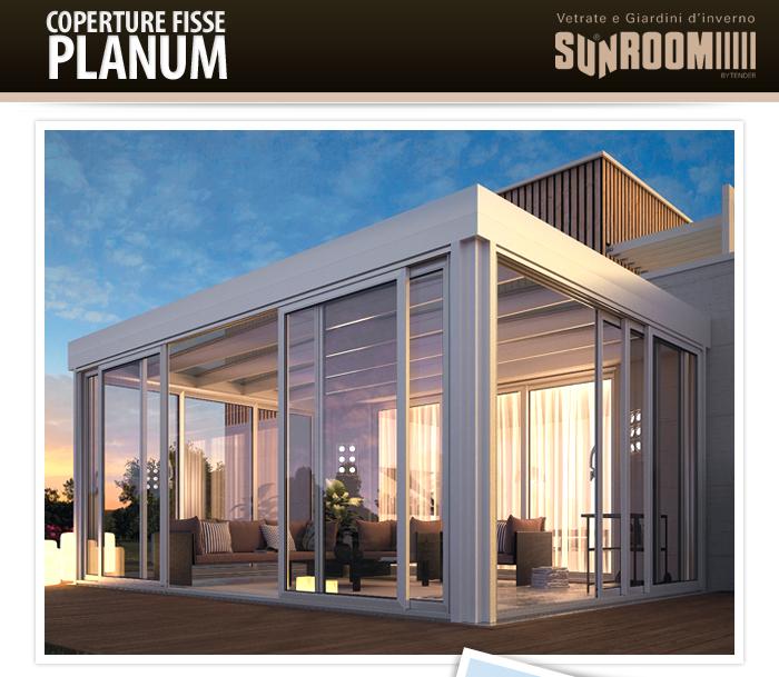Coperture fisse in alluminio per giardini d 39 inverno e - Coperture per giardini ...