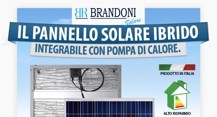 Pannello Solare Per Pompa Di Calore : Pannello ibrido brandoni solare integrabile con pompa di