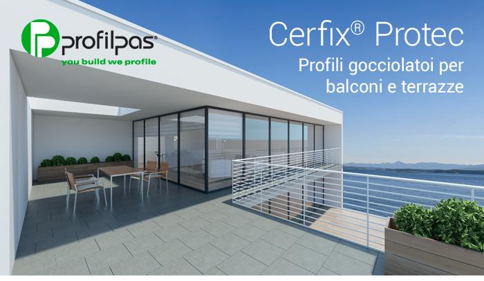 Profili gocciolatoi per balconi e terrazze profilpas for Arredamento terrazze e balconi