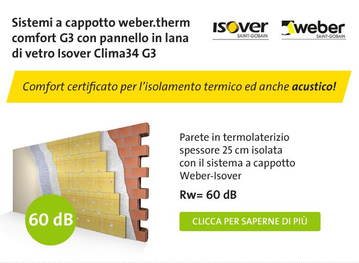 webertherm comfort G3   sistemi isolamento termico cappotto