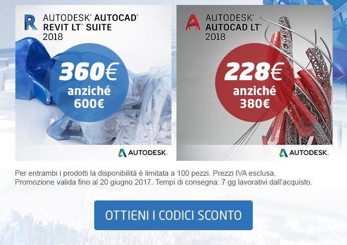 AutoCAD Revit LT Suite e AutoCAD LT con il 40% di sconto